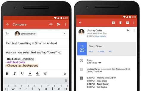 Gmail for Android rolls out Rich Text Formatting and