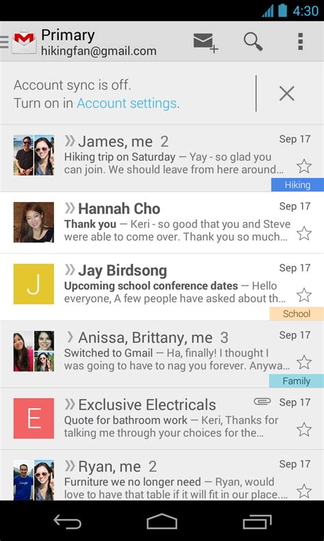 Google updating Gmail for Android with new look, small