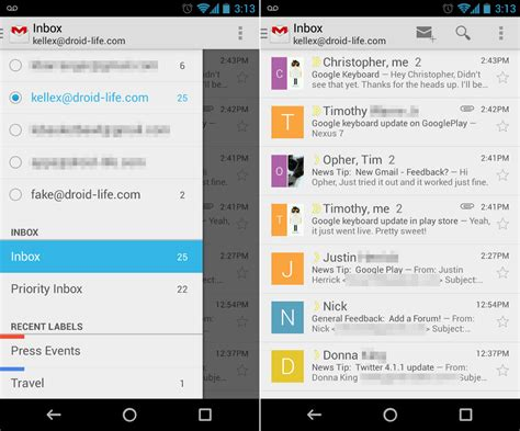 Thoughts on the New Gmail for Android